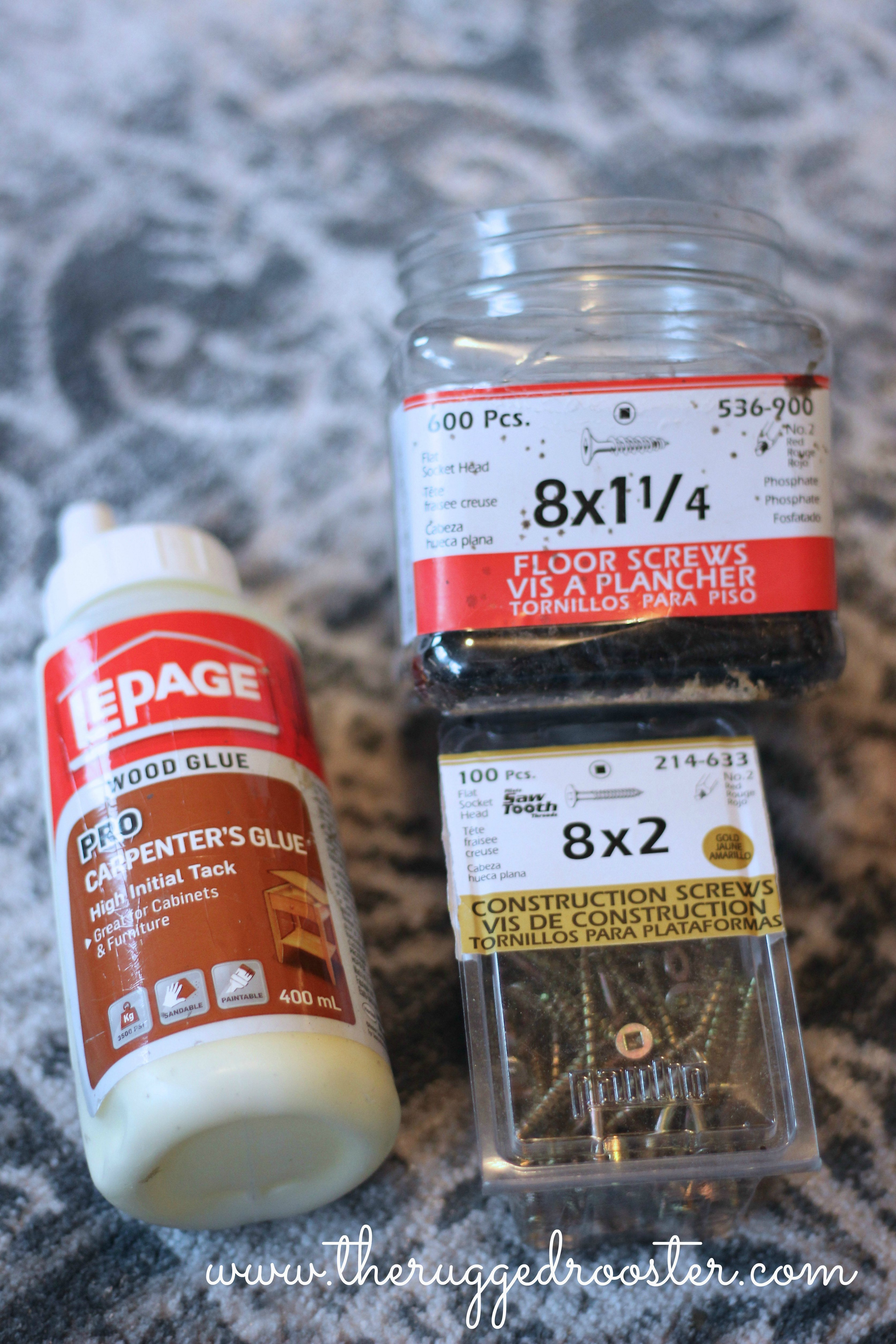 Wood Working Supplies, Glue, Screws