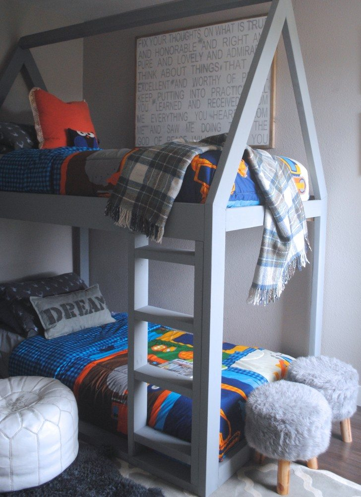 Build a House Bunk Bed, House Bed, DIY House Bed, Bed Plans