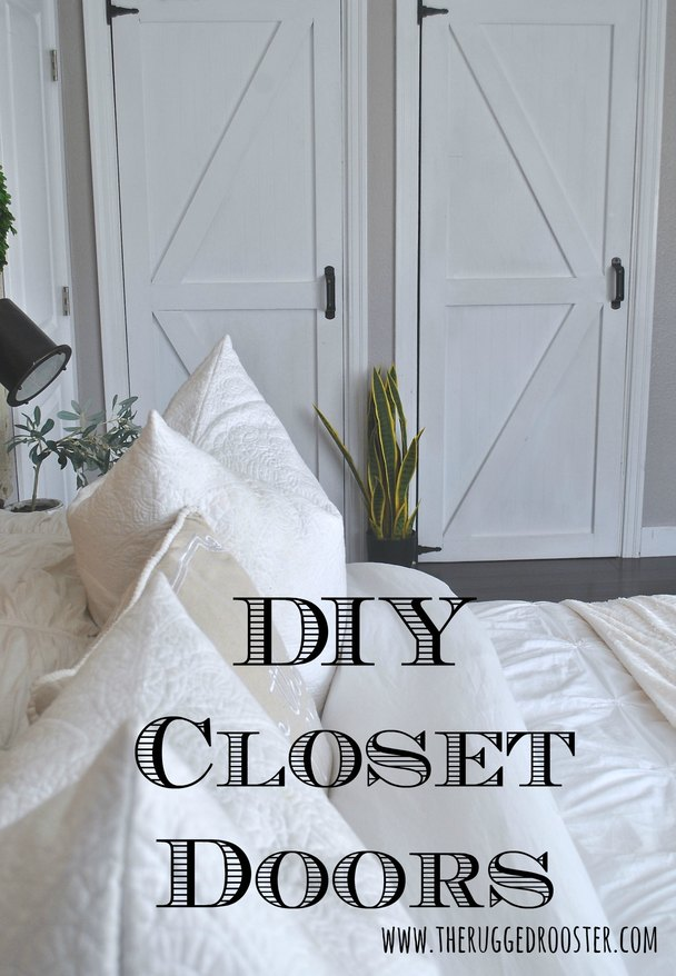 DIY Closet Doors, DIY Barn Doors, How To Build Barn Doors, Easy Closet Doors, Quick Closet Doors