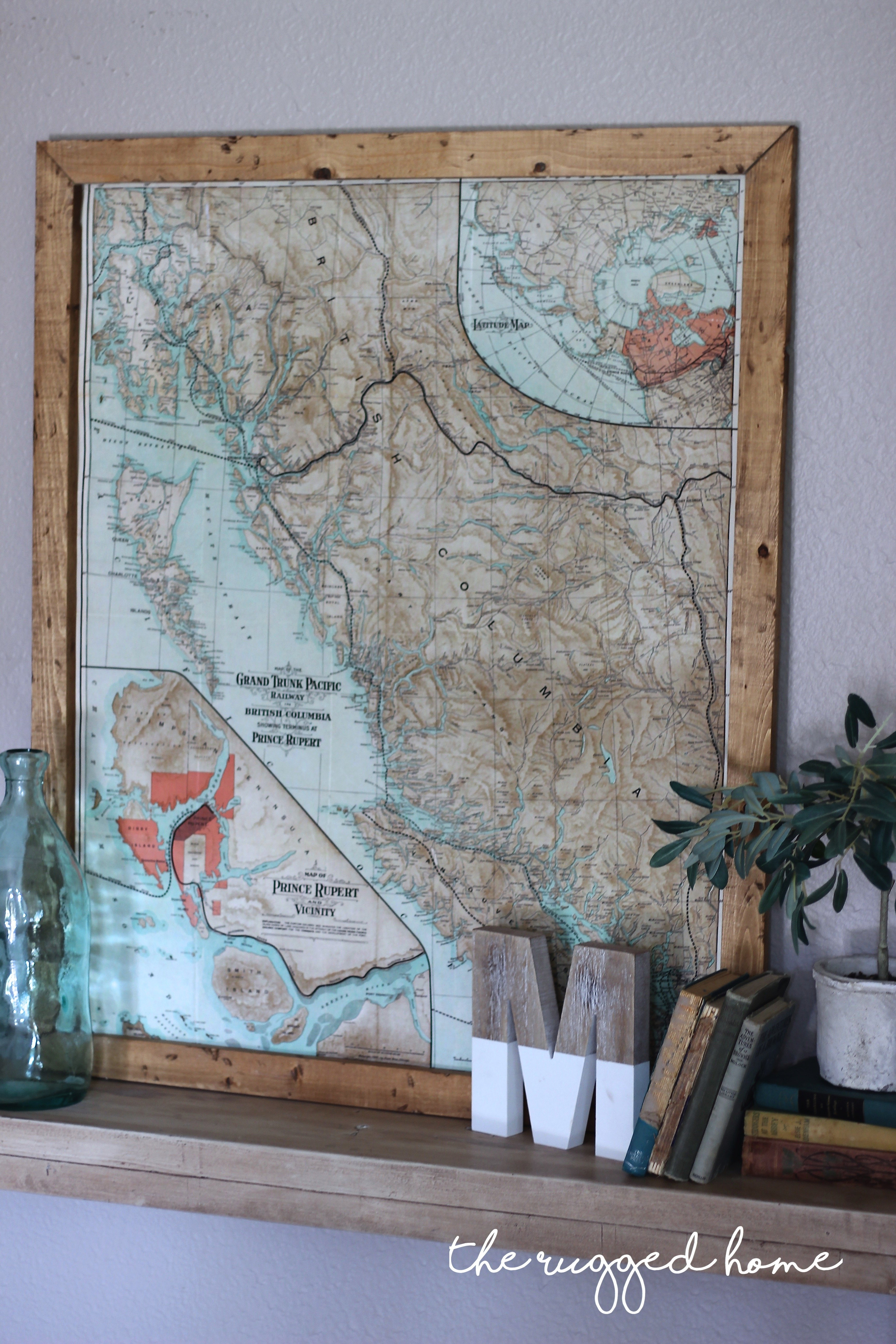 Decorating with maps white picket farmhouse for Teva deco change decor