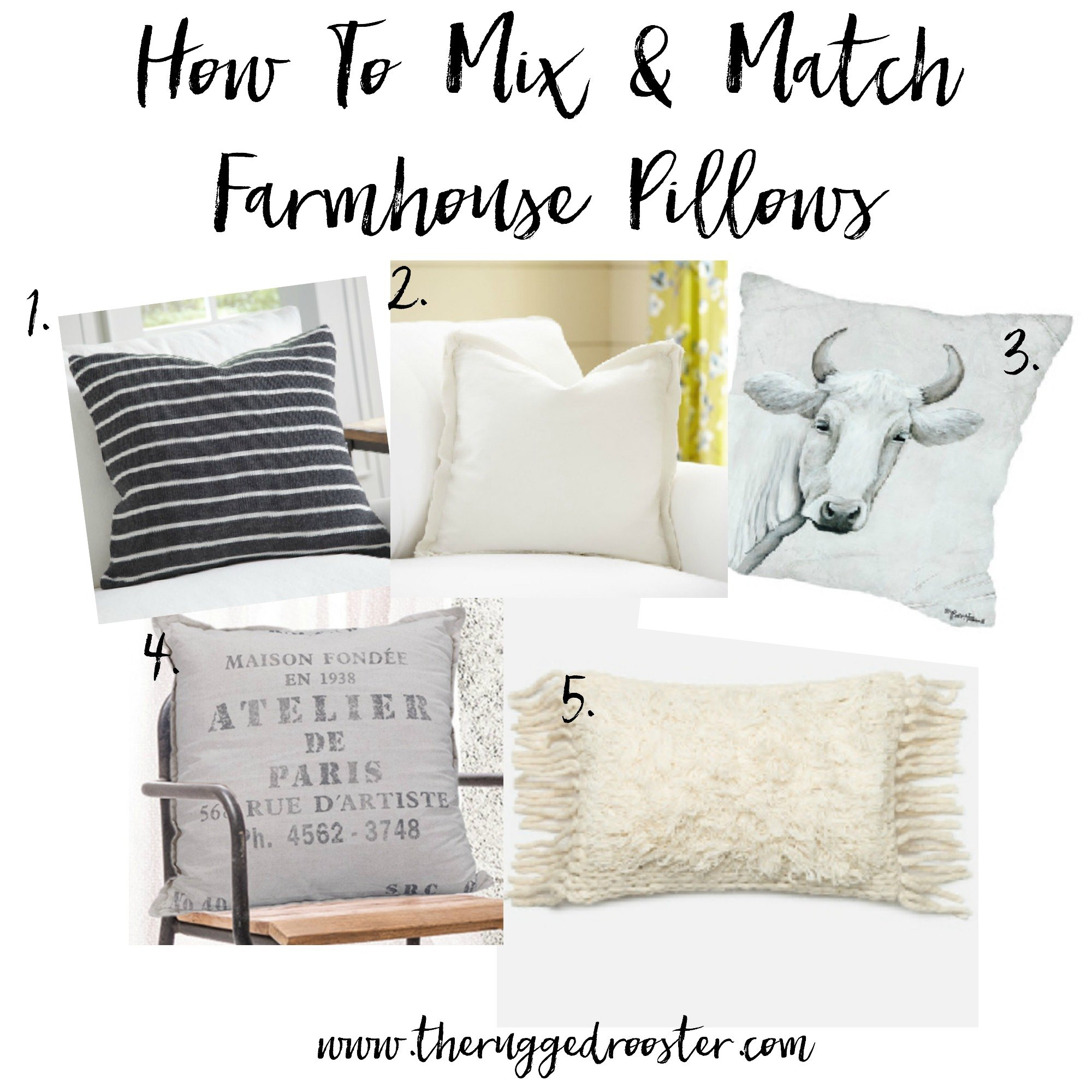 The best farmhouse pillows and how to pick and style them www.whitepicketfarmhouse.com