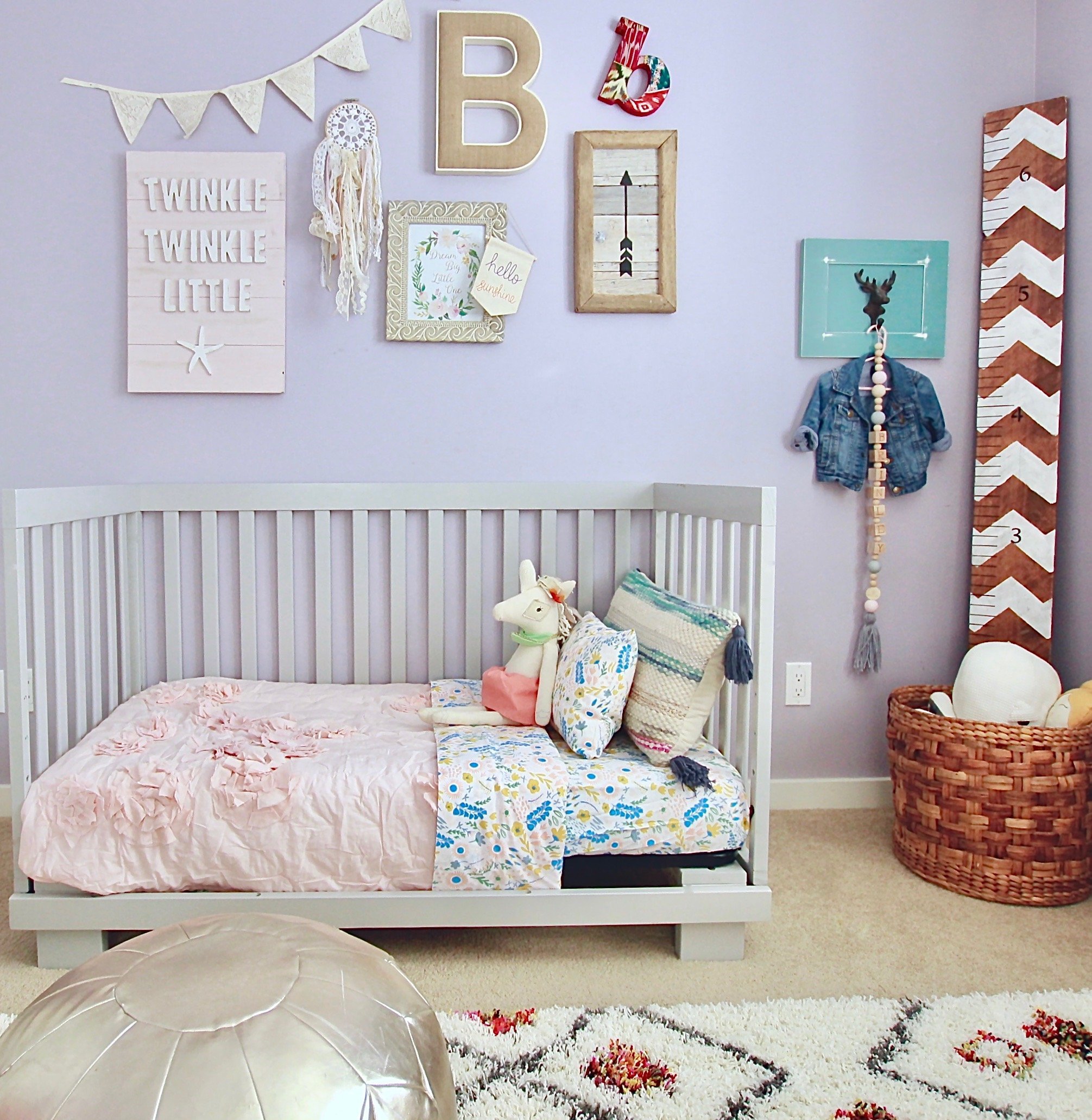 Floral Rush, Our Little Girls Very Whimsical Big Girl Room, The land Of Nod www.whitepicketfarmhouse.com