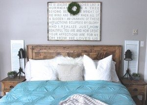Rustic Bed, Rustic Staged Bedroom