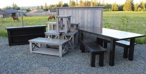 Rustic Furniture Staged, Rustic coffe table, Rustic table set, rustic bed, rustic tv stand, rustic side tables.