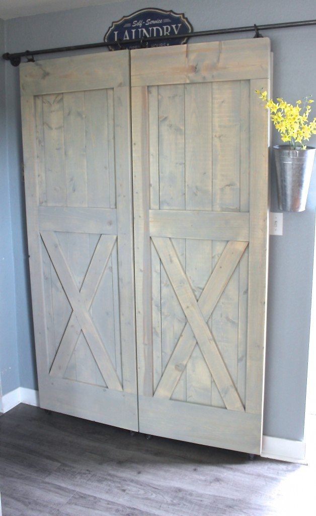 Sliding X Barn Doors With Hardware, Closet Doors