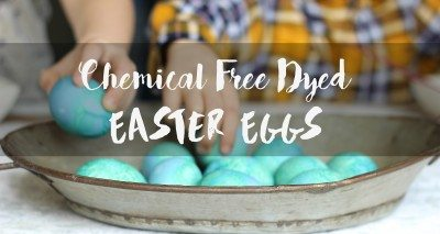 Chemical Free Dyed Easter Eggs