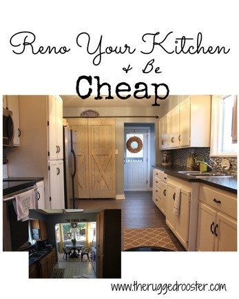 Renovate your kitchen for cheap, Cheap Kitchen, Farmhouse Kitchen