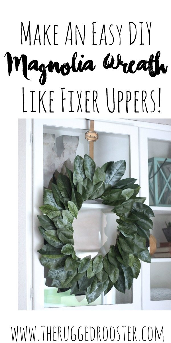 DIY Magnolia Wreath, Fixer Upper Magnolia Wreath, DIY Wreath