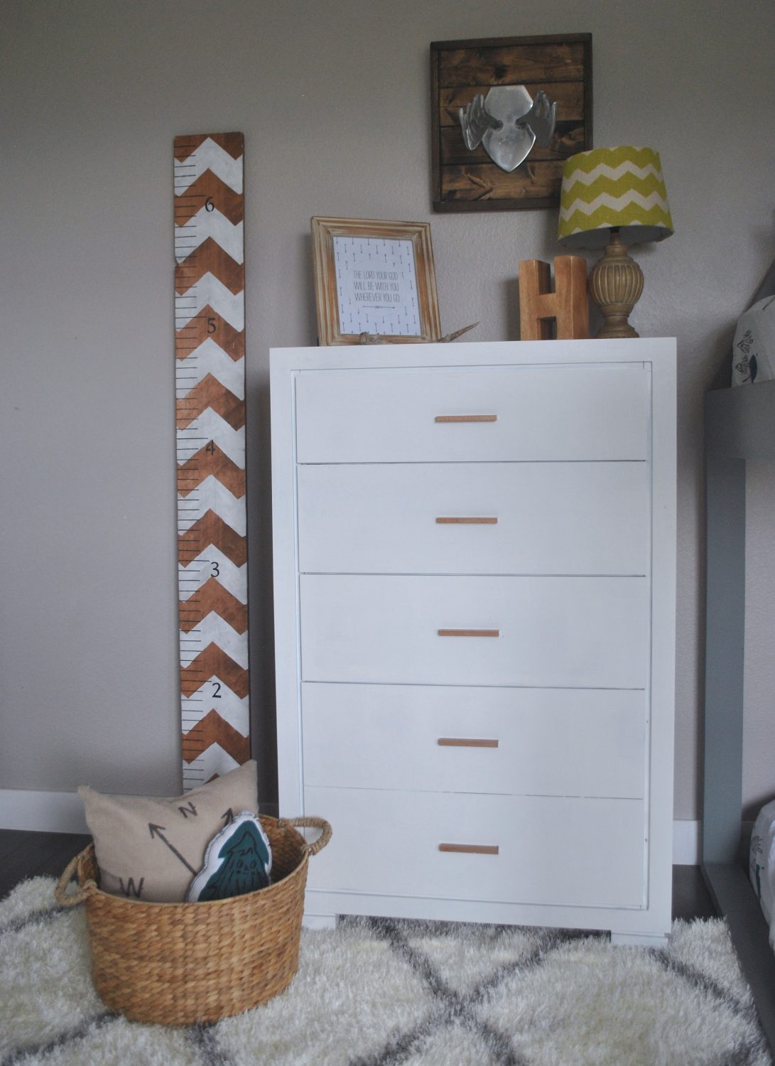 DIY | White & Copper Dresser