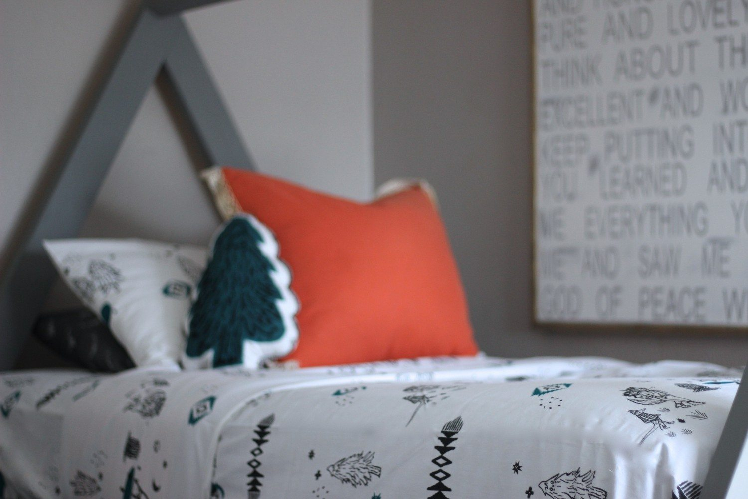 Land Of Nod, Land of Nod Bedding, Tree Pillow