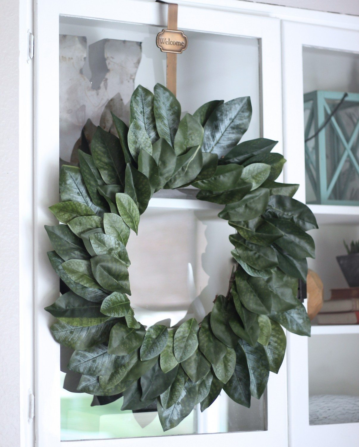Easy DIY Magnolia Wreath, FIxer Upper Magnolia Wreath