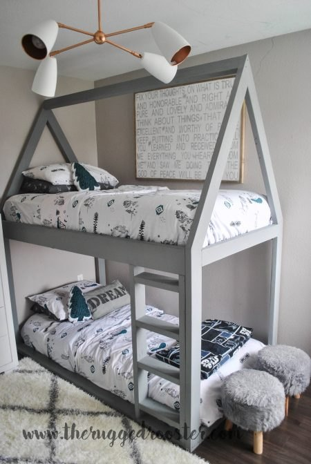 https://www.whitepicketfarmhouse.com/boys-bedroom-reveal/ , Boys Bedroom Reveal, Little Boys Bedroom, Boys Bedroom, Boys Grey and Black Bedroom, Moroccan Rug, Kids Room