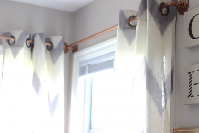 Easy DIY Curtain Rods, Make West Elm Curtain Rods, DIY Curtain Rods, Copper Curtain Rods