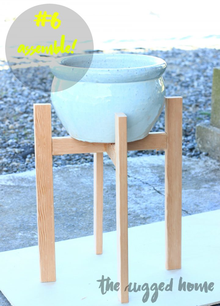 DIY Plant Stand, West Elm Inspired Plant Stand, Plant Holder
