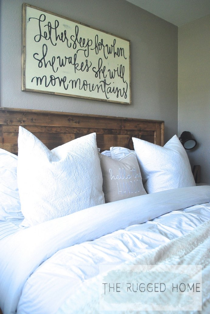 Farmhouse Master Bedroom, How to Style A Farmhouse Bedroom For Cheap, Our Farmhouse Bedroom