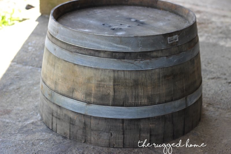 The Rugged Home Wine Barrel Coffee Table, Super Easy Farmhouse Coffee Table, Wine Barrel Made Into A Coffee table