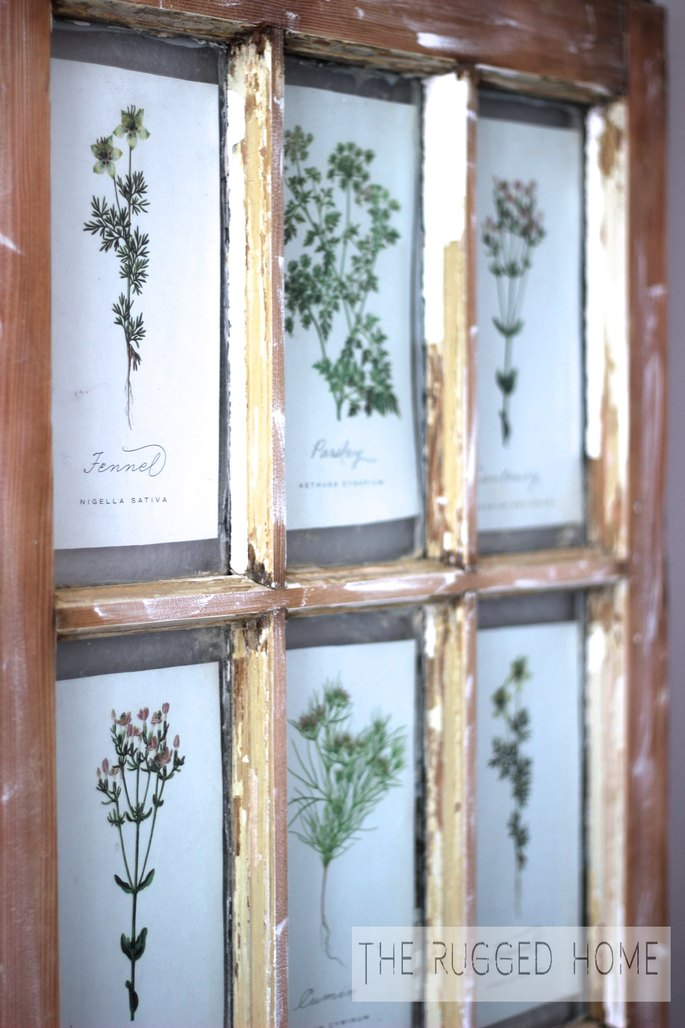 DIY Salvaged Window and Free Printables, DIY Barn Window, Barn Window Art