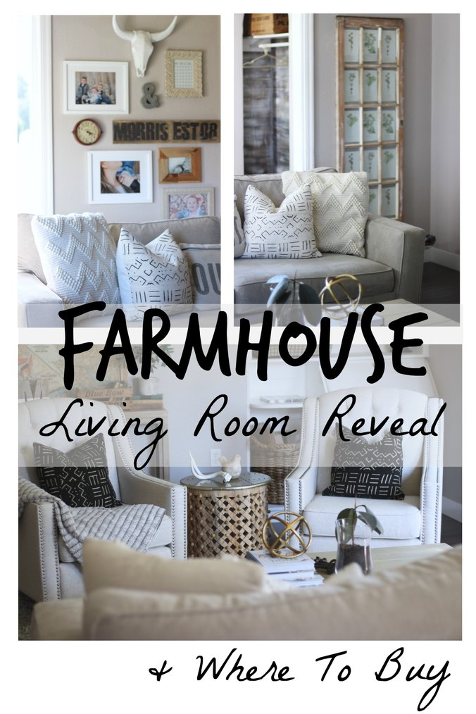 Farmhouse Living Room Reveal and Where To Buy, Thrify and On Sale