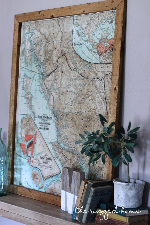How To Decorate With Vintage Maps, Simple Decorating With Maps, Modern and Vintage Decorating