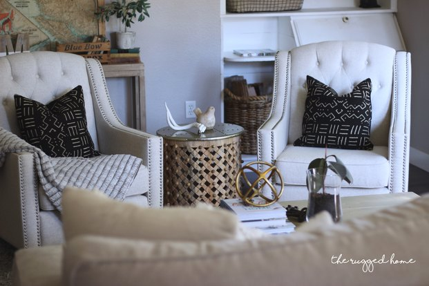 Farmhouse Living ROom Reveal and Where TO Buy, Thrifty and Rustic Decor