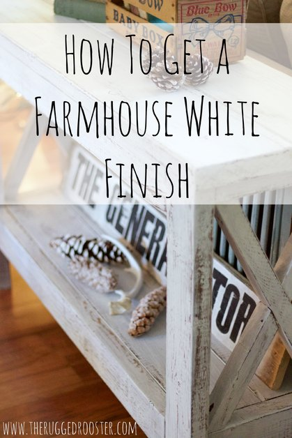 How To Make A Farmhouse White Finish, Super Easy Tutorial DIY To Make An Old Piece new Again with this Easy Painting Technique, Easy DIY