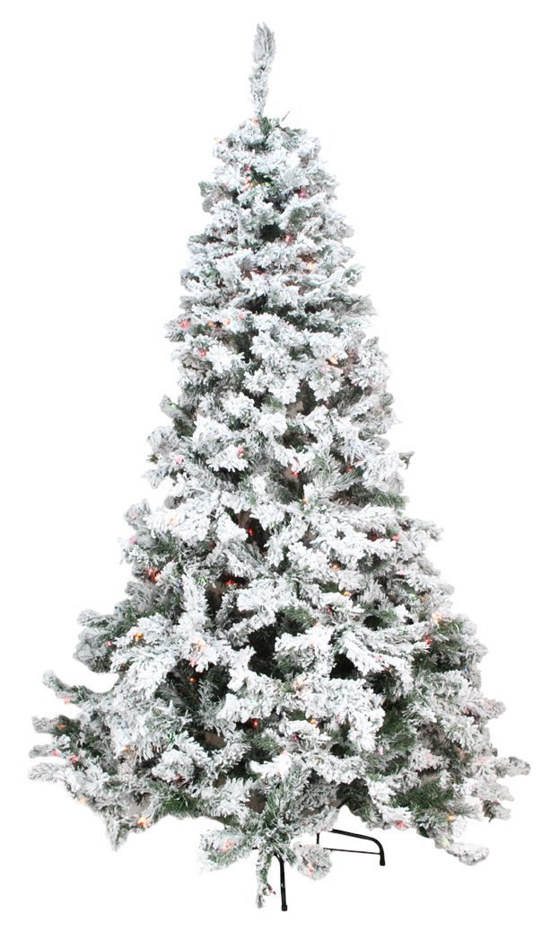 Top 6 Christmas Trees in Canada and United States, Flocked Christmas Trees www.whitepicketfarmhouse.com