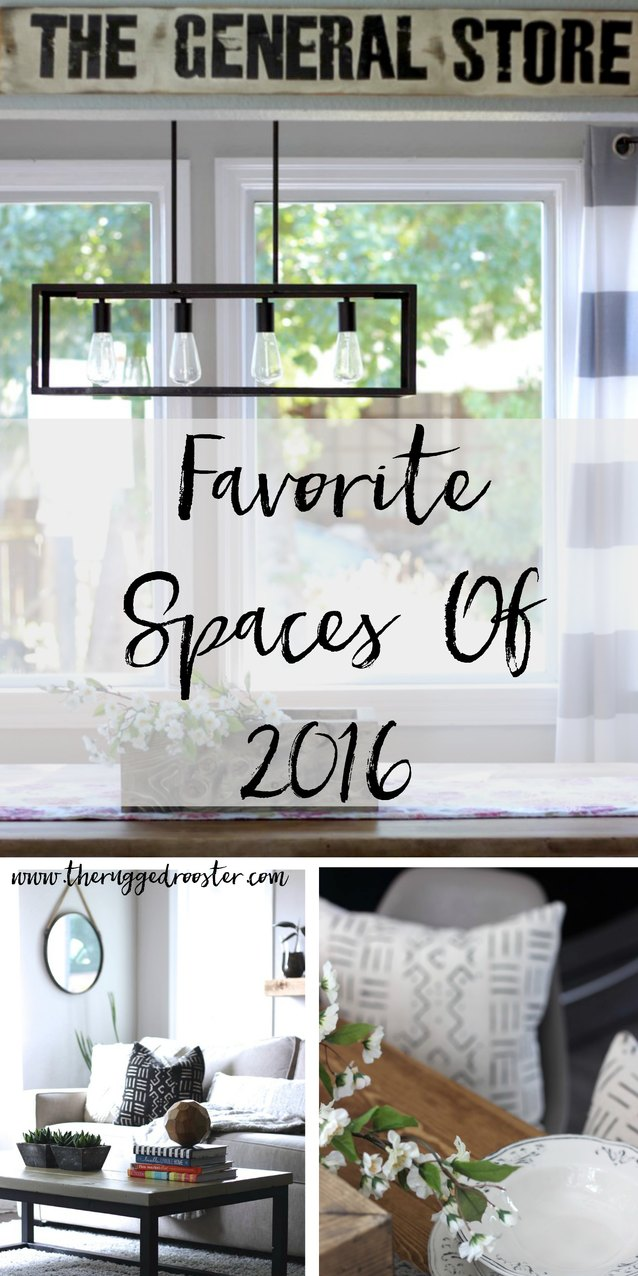 Favourite Farmhouse Spaces of 2016. DIy, www.whitepicketfarmhouse.com