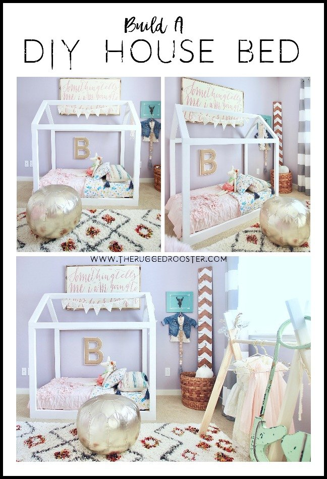 Build A DIY Toddler House Bed From Scratch. Super Easy & Takes under 2 hours and 40 dollars. www.whitepicketfarmhouse.com