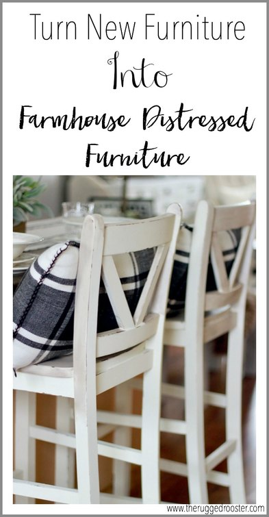 Turn New Furniture Into Farmhouse Distressed Furniture Easily. I used Country Chic Paint & Antique Wax to create a timeless look www.whitepicketfarmhouse.com