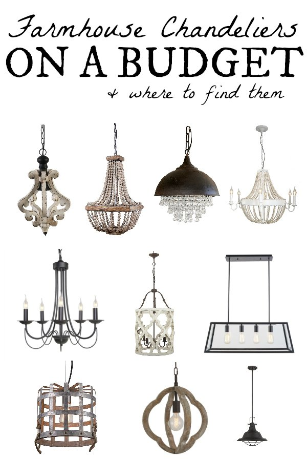 Farmhouse Chandeliers On A Budget + Where To Buy Them. Most are On Sale and serious bang for your buck.