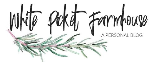 White Picket Farmhouse Logo, A Personal Blog