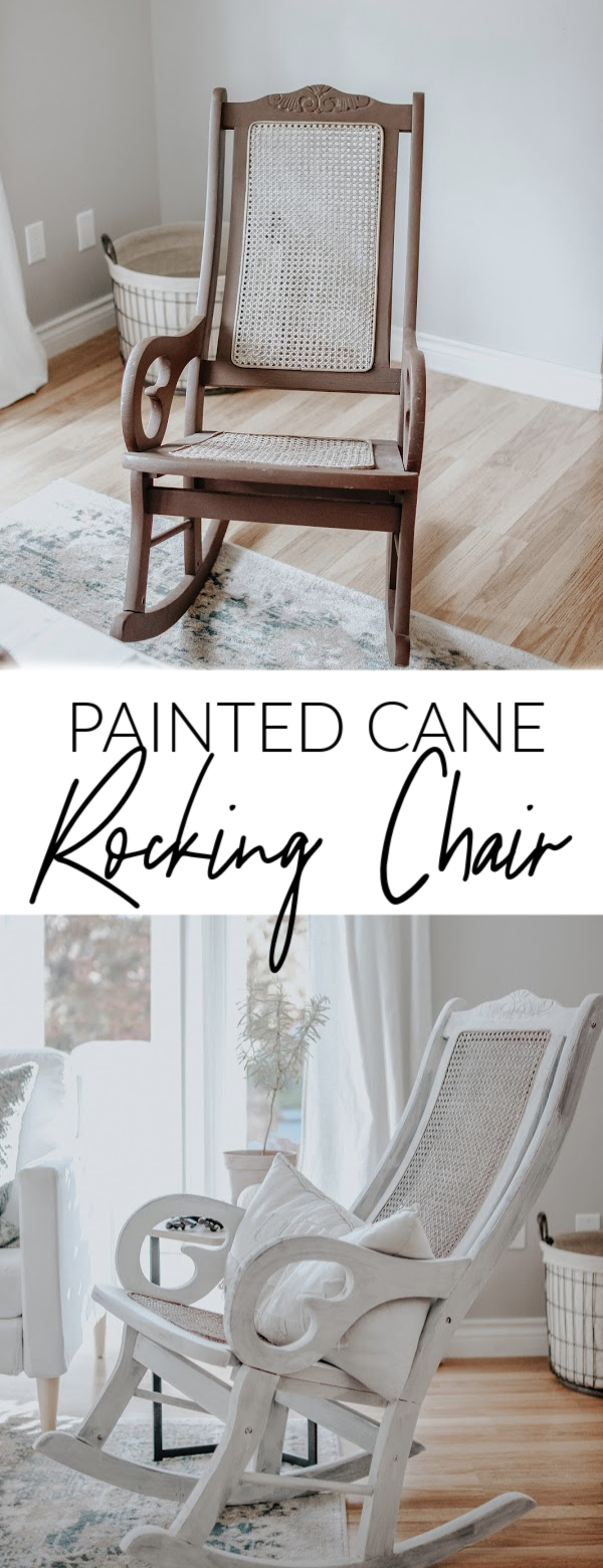 Painted Cane Rocking Chair. How to Easily Give Old Furniture New Life with Milk Paint. DIY FUrniture and Painted Furniture