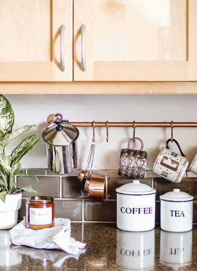 Anthropologie Inspired Copper Mug Rack