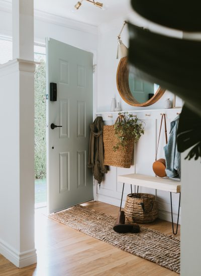Sage Front Door and Painting Tips