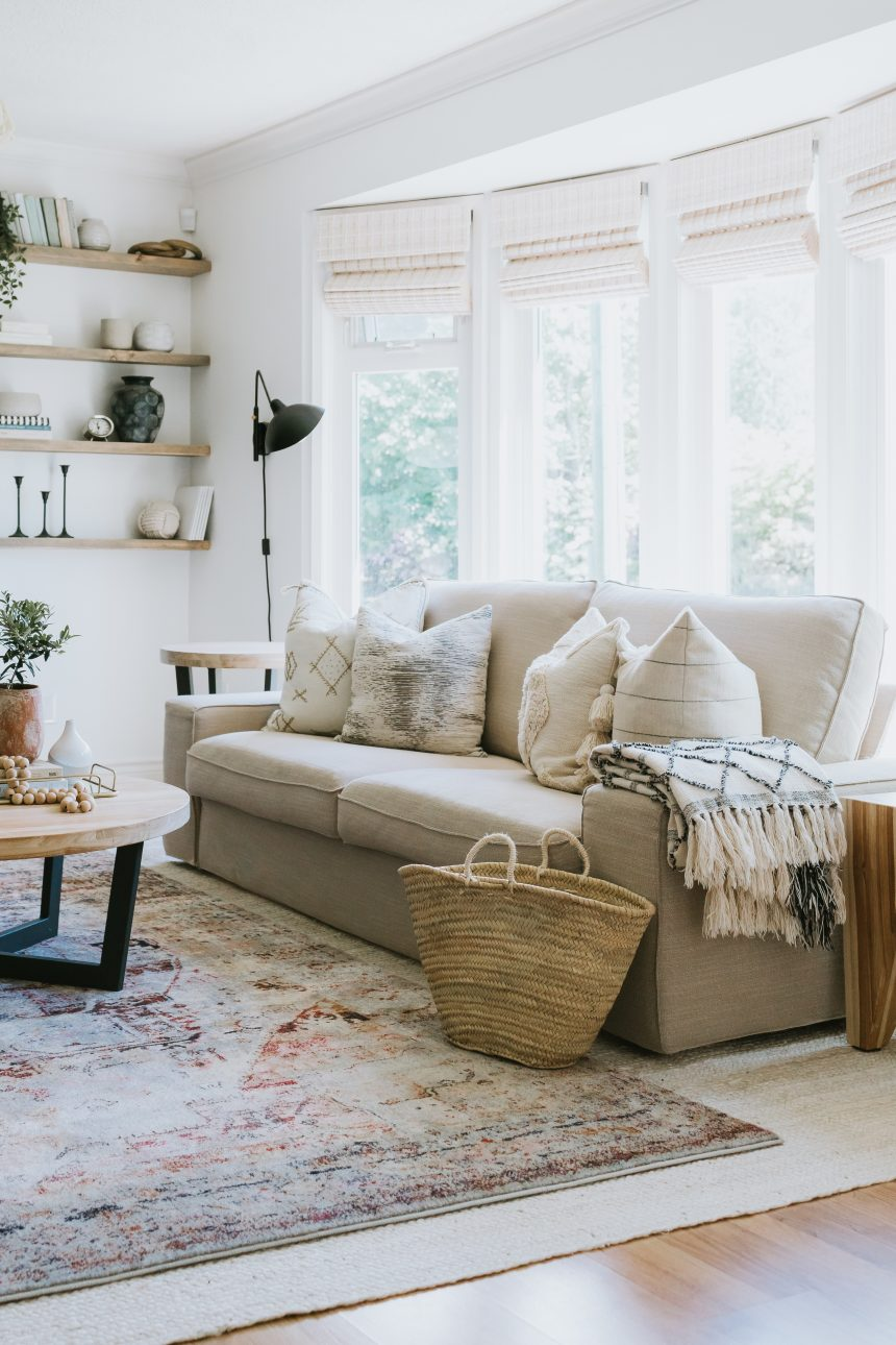 Living Room Plans and Moodboard. How you can easily turn into another style with PAINT