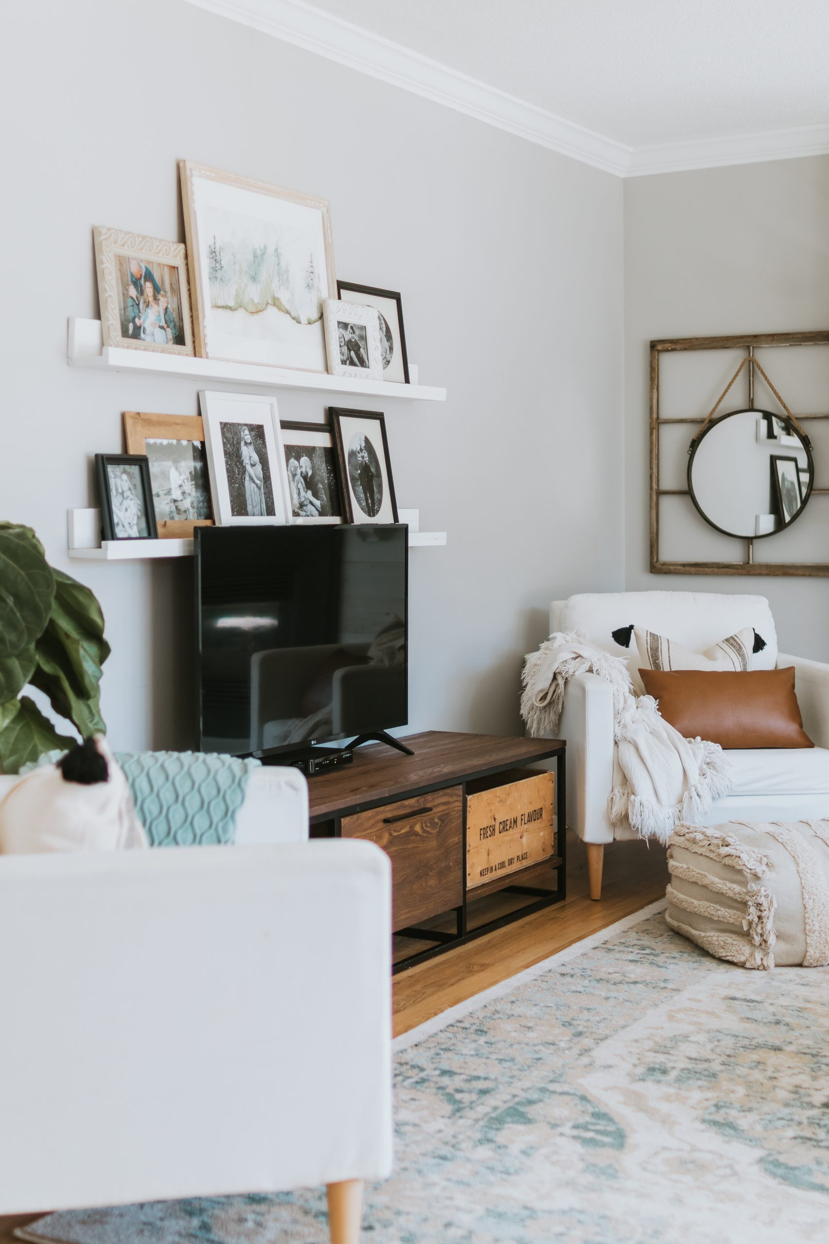 The Many Looks Of One Living Room. The Seven different rugs we've had in our modern farmhouse living room and why we loved each one.