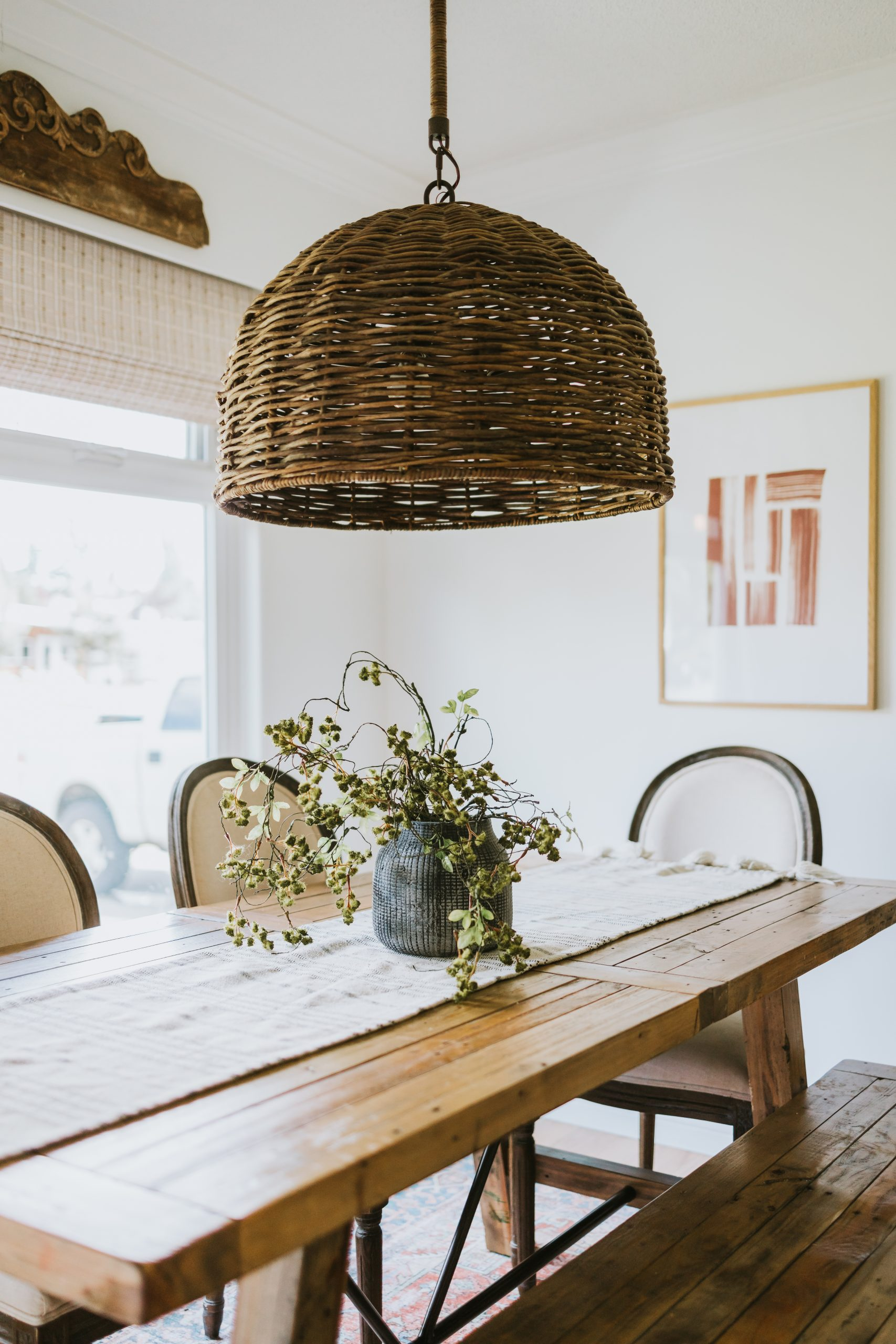 Modern Airy Dining Room. A Can of paint can totally change a space and make it feel cozy and open. Links To All the Furniture and Decor In the Room