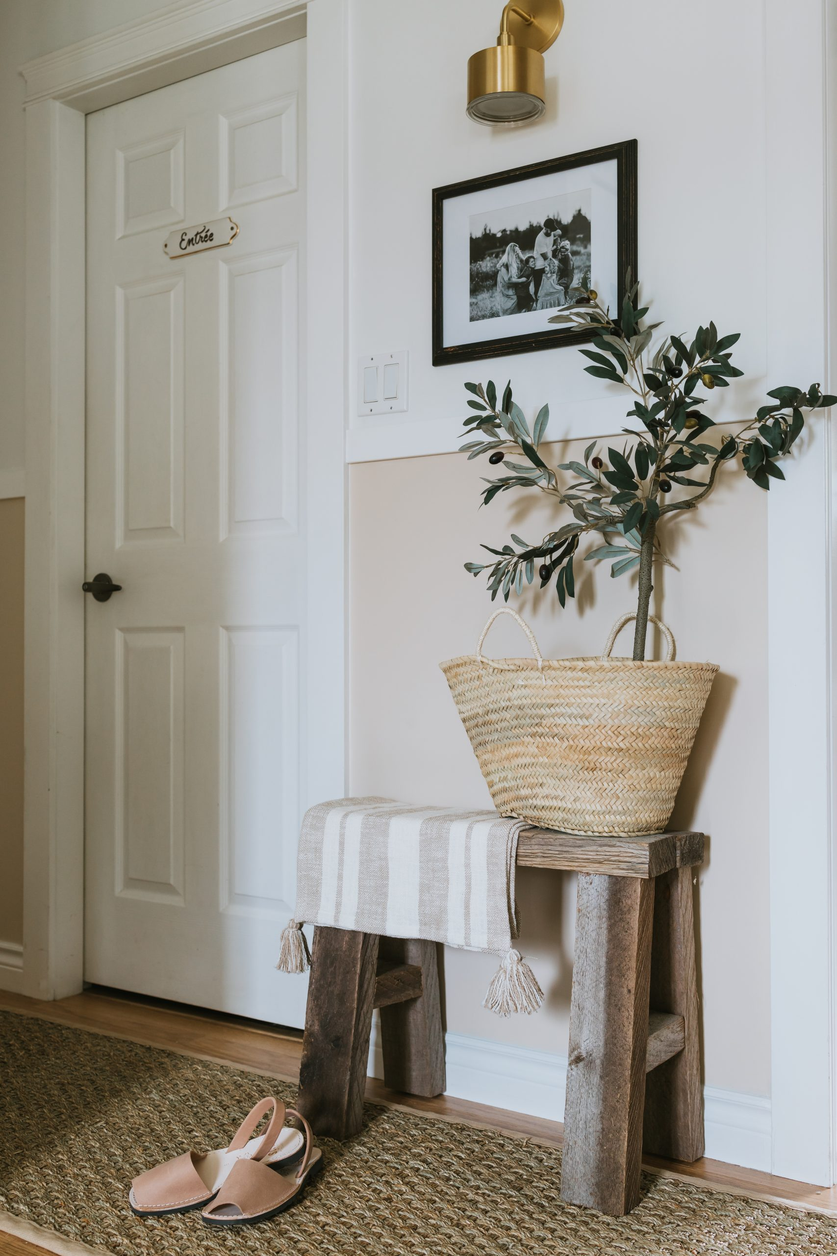 Our Narrow Hallway Makeover. How TO Transform a dark narrow hallway with no windows into a upscale and modern space with little money and time.