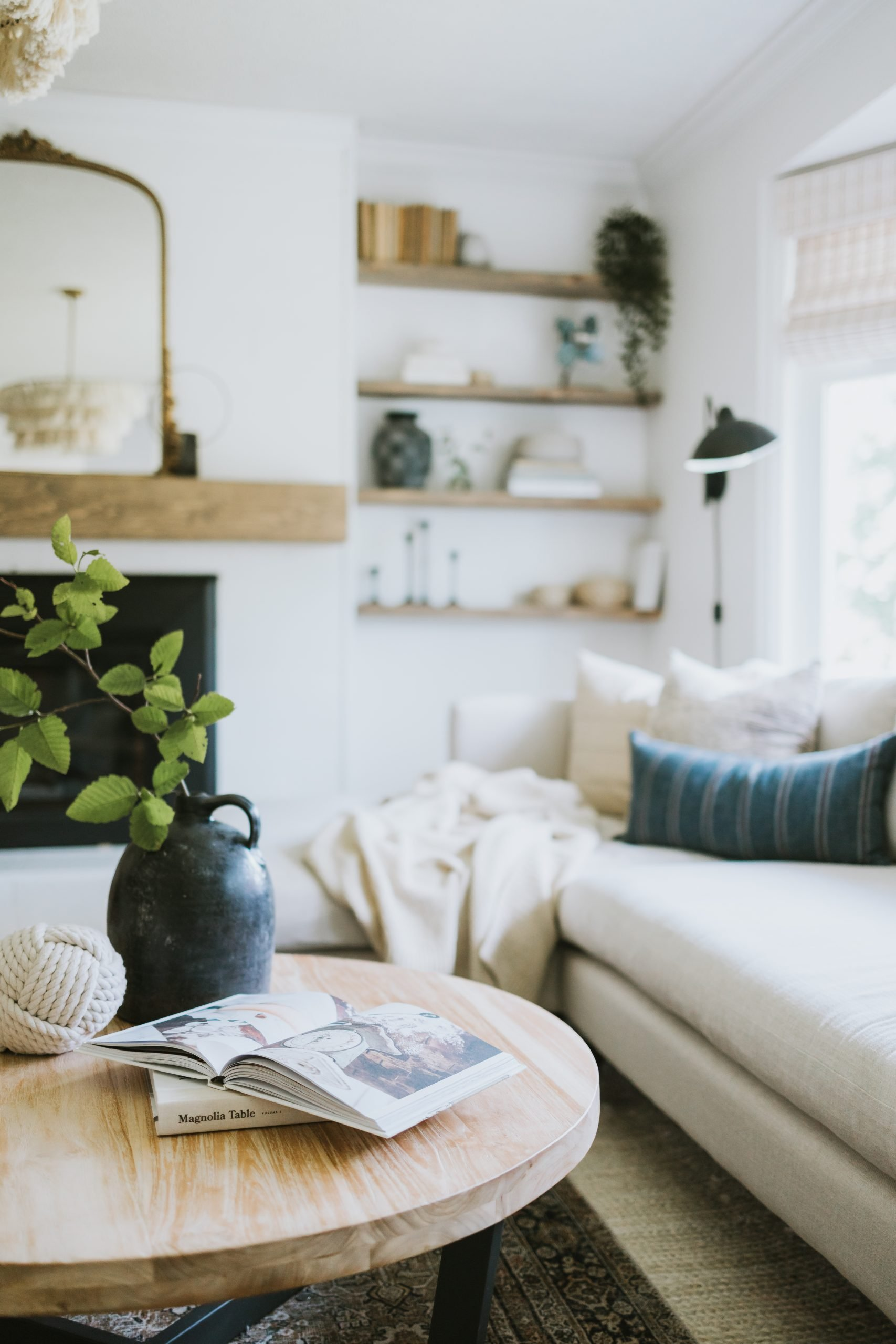 Modern Coastal Living Room Makeover. Our Moodboard and how it turned out. An effortless and Cozy Living Room