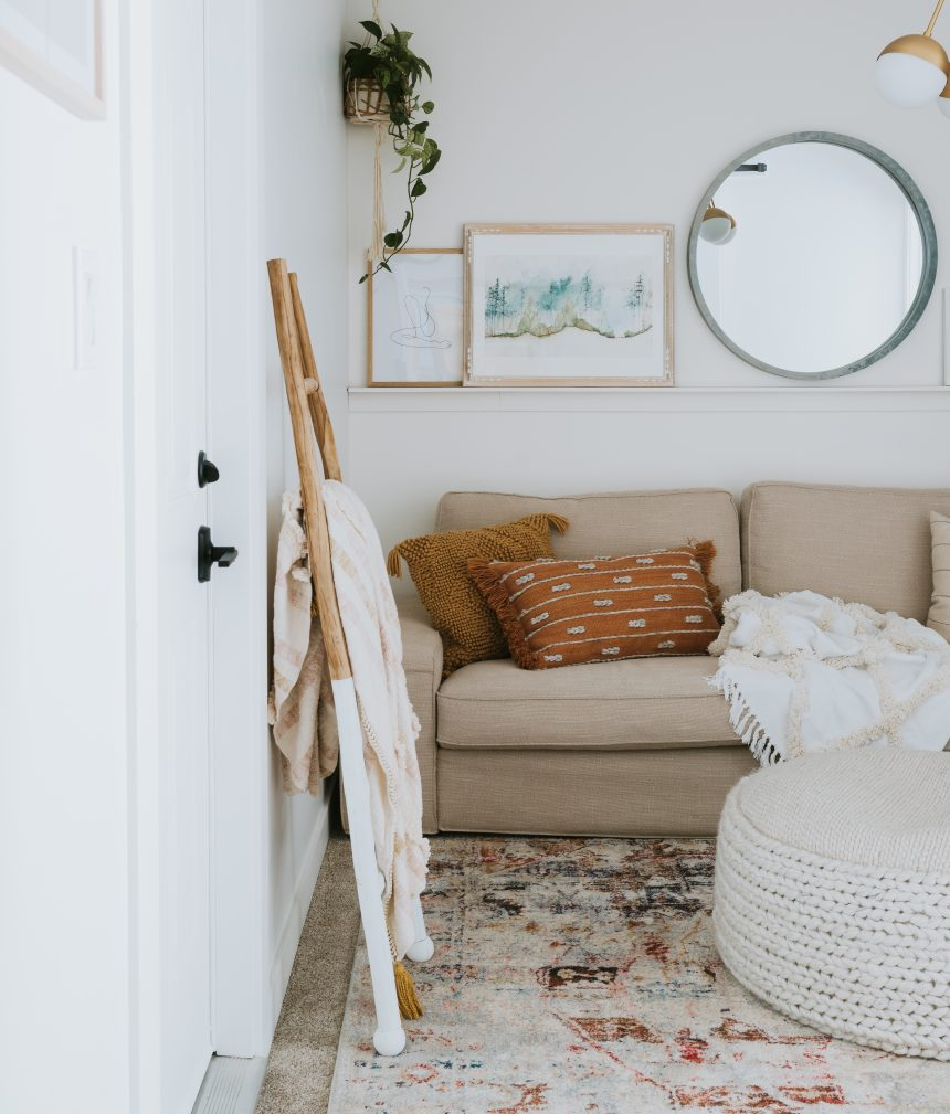 Simple Changes That Make A Room Feel High End. How We painted our interior doors and changed out the hardware for a high end feel.