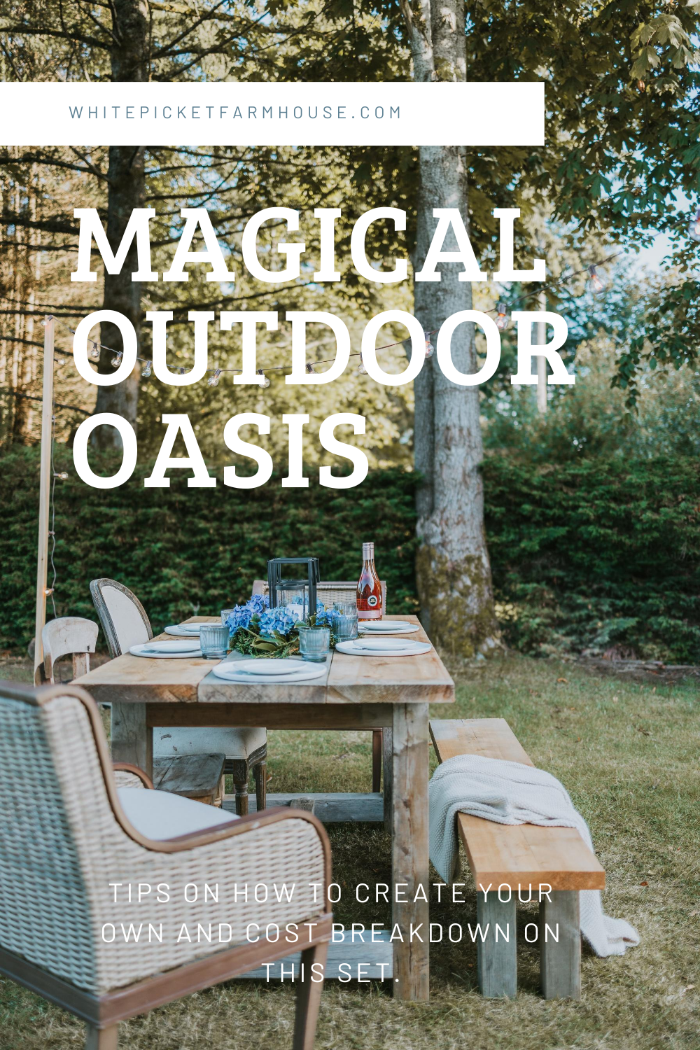 How To Create A Magical Outdoor Oasis For Under 100 Dollars. My Tips on How To Source Furniture and Decor To Make Your Very Own Outdoor Oasis!