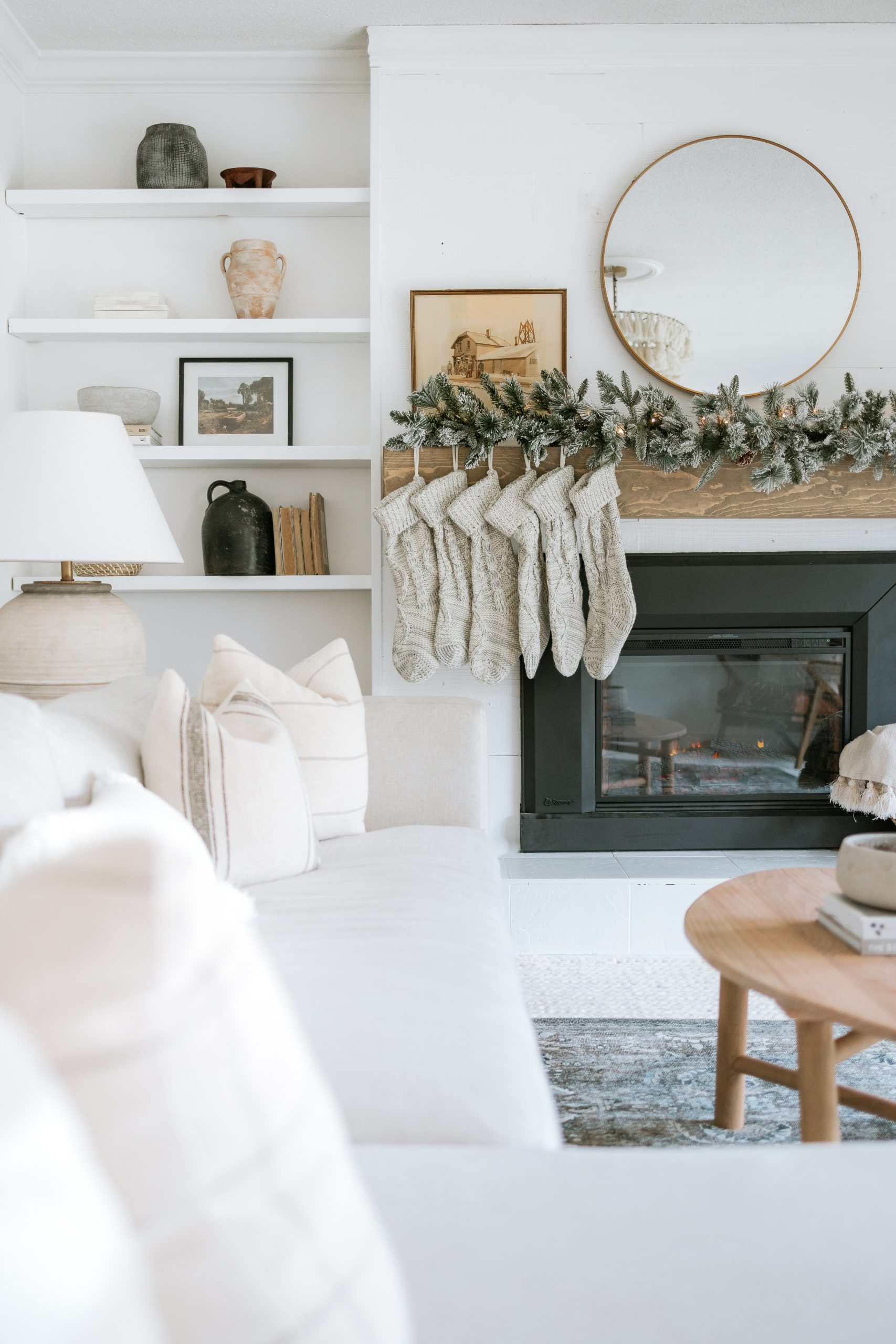Tips For Mixing Styles For A Perfectly Styled Christmas Mantle. Where I found All of our Christmas Decor and How I Style A Faux Garland