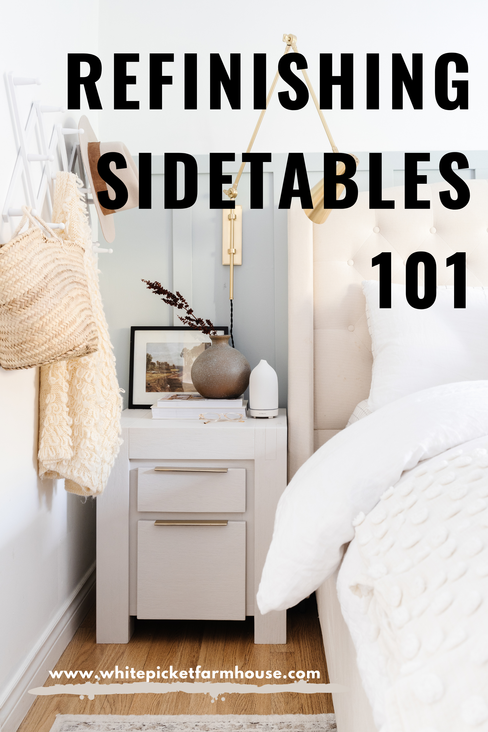 Refinishing Side Tables 101. How To Refinish Furniture The Easy and Cheap way. Sharing all my tips and tricks after refinishing over 1,000 pieces of!
