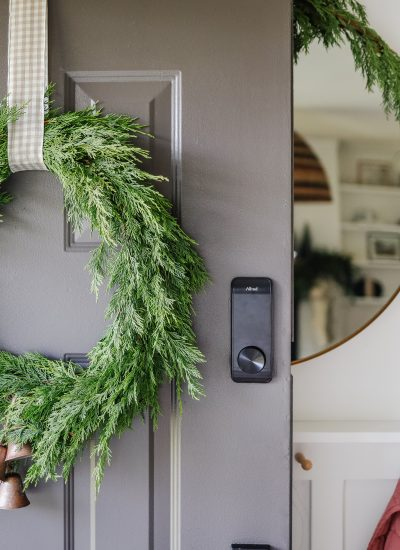 Crate and Barrel Inspired Cypress Christmas Wreath