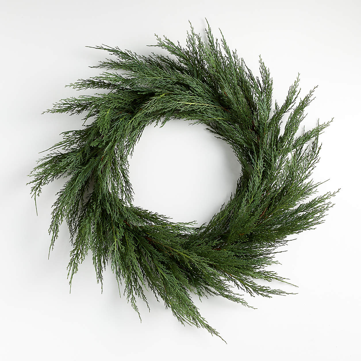 Make Your Own Crate and Barrel Inspired Cypress Christmas Wreath For Under Twenty Dollars. Cypress Dries Really Well and Will Last Until After Christmas!