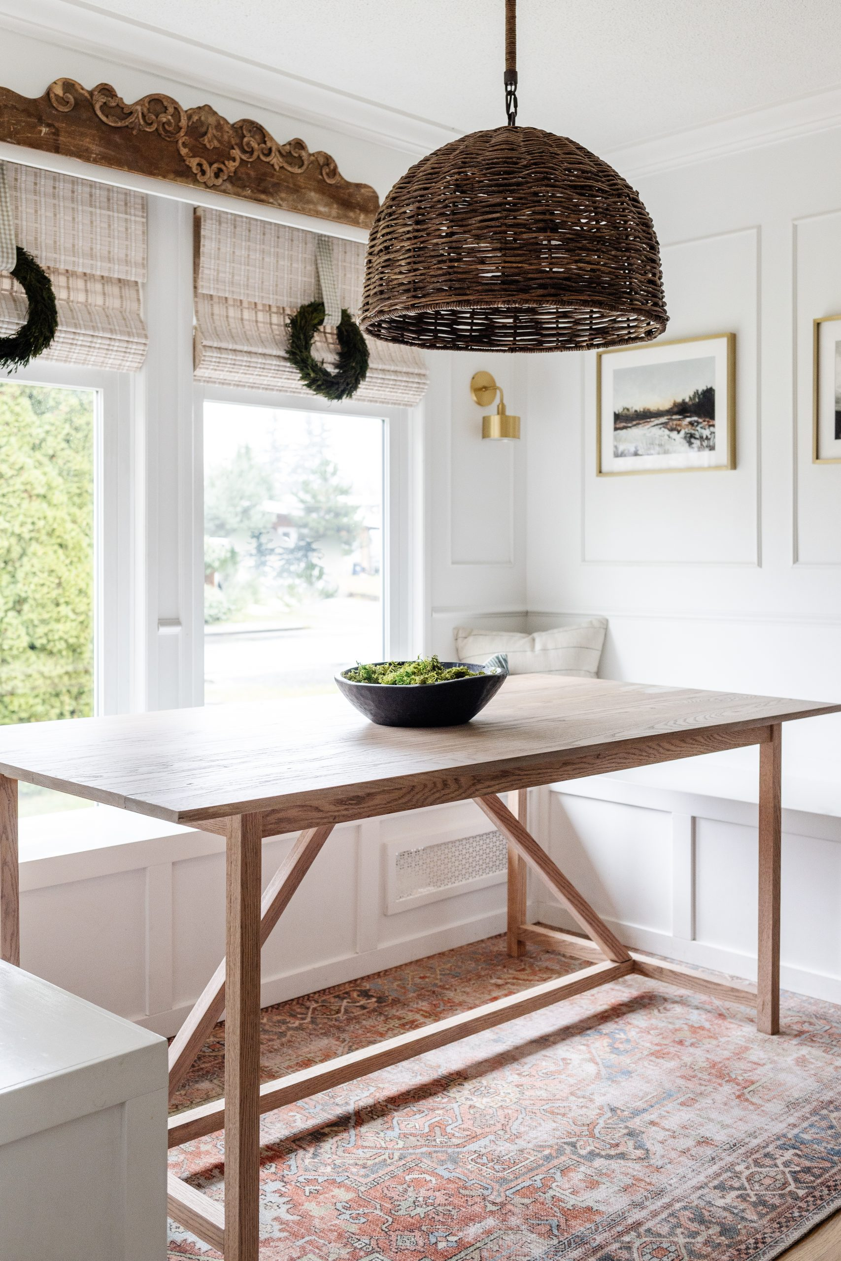 How To Build A Modern Oak Dining Table. Step by step directions as well as a shop list. We partnered with Home Depot Canada to build our dream table!