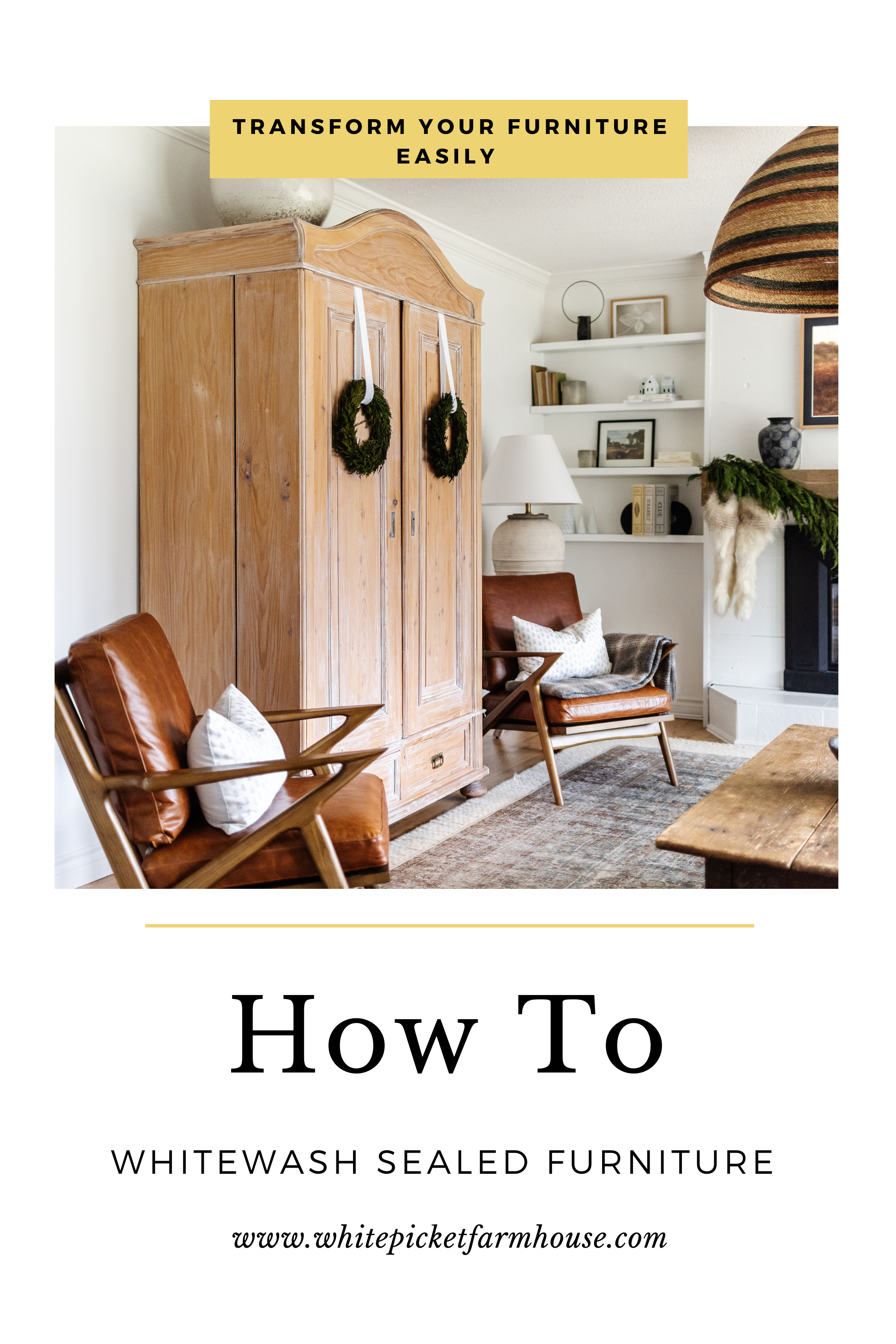 How To Whitewash Sealed Furniture! Do you really hate the colour of your furniture? Is it orange or red? Here's a quick process that can get you by until you have time to strip it!
