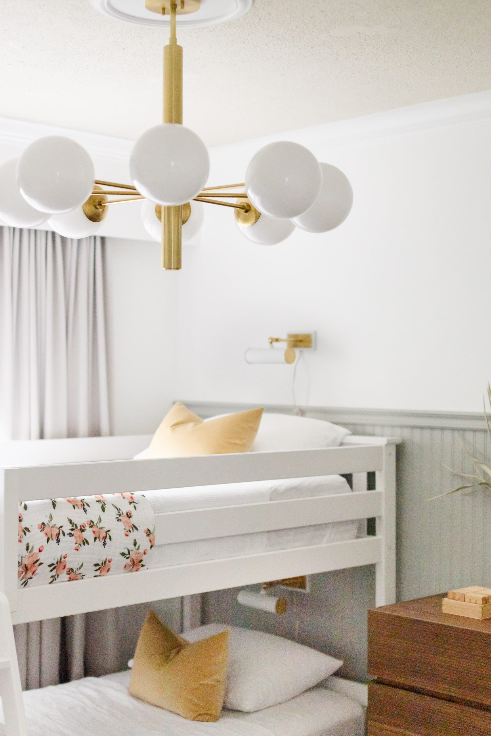 Brinley and Rhett's Modern Bedroom Makeover. A Modern and neutral kids bedroom styled with function in mind.