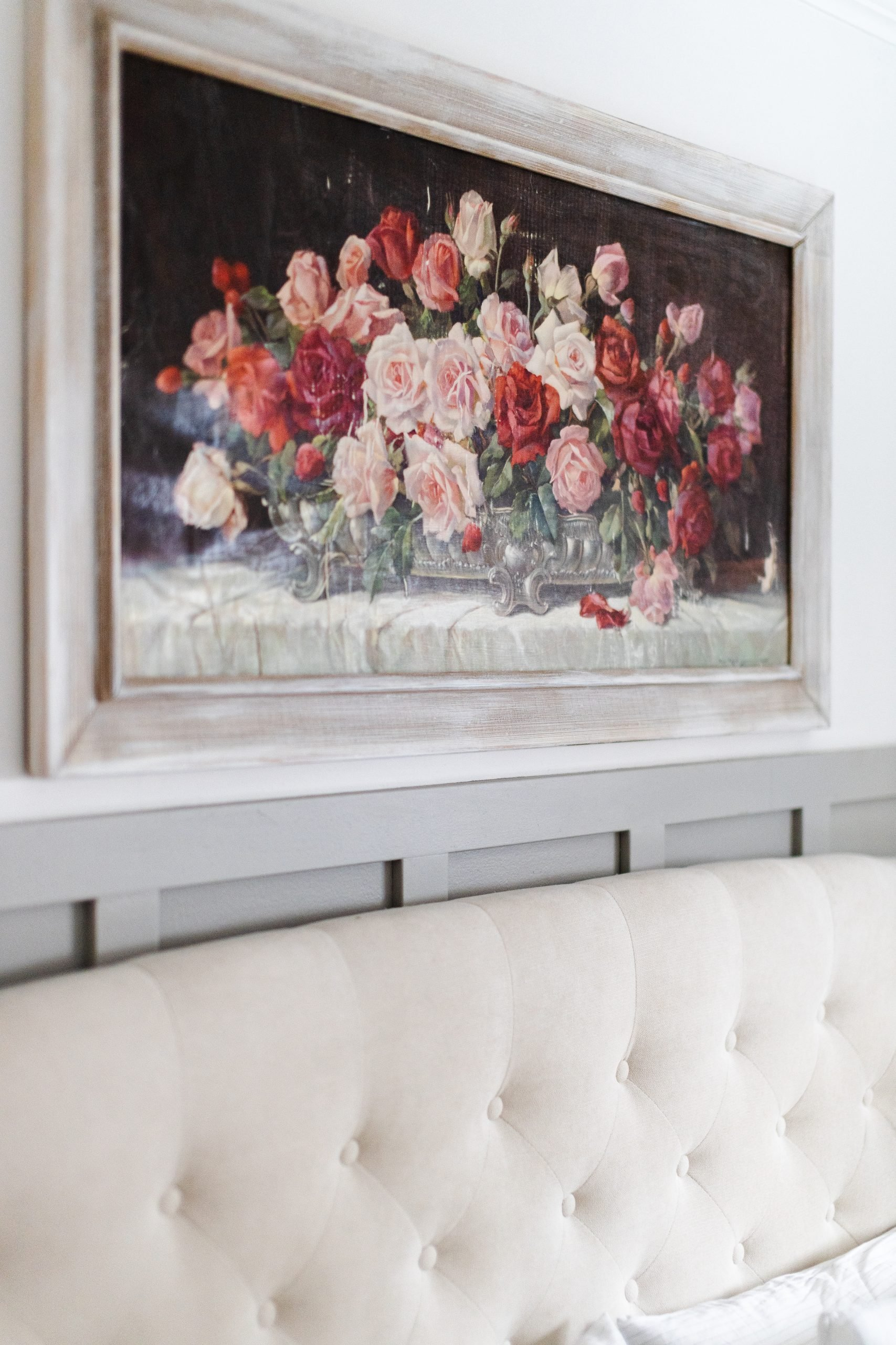 The Vintage Rose Painting That Almost Didn't Make it. How I turned a 30 dollar thrifted piece of art into a gorgeous trendy masterpiece!
