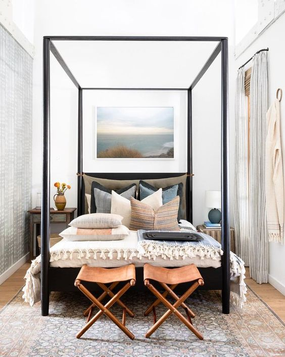 Build your own canopy bed inspired by Amber Interiors Penny Bed. Specific Cuts, Dimensions, Tools and Photos So you Can build It Too